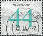NETHERLANDS - CIRCA 2007: A stamp printed in the Netherlands, shows the value of a postage stamp, circa 2007 — Stock Photo
