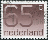 NETHERLANDS - CIRCA 1986: A stamp printed in the Netherlands, shows the value of a postage stamp, circa 1986 — Stock Photo