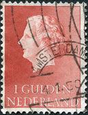 Nederland - circa 1954: een stempel gedrukt in nederland, toont juliana der nederlanden, circa 1954 — Stockfoto