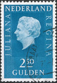 NETHERLANDS - CIRCA 1969: A stamp printed in the Netherlands, shows Juliana of the Netherlands, circa 1969 — Stock Photo