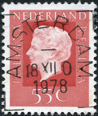 NETHERLANDS - CIRCA 1976: A stamp printed in the Netherlands, shows Juliana of the Netherlands, circa 1976 — Stock Photo