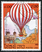 LAOS-CIRCA 1983: A stamp printed in the Laos — ストック写真