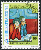 LAOS-CIRCA 1989: A stamp printed in the Laos — Stock Photo