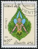 LAOS-CIRCA 1984: A stamp printed in the Laos, depicts a deity, circa 1984 — Stock Photo