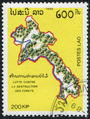 LAOS-CIRCA 1989: A stamp printed in the Laos — 图库照片