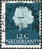 NETHERLANDS - CIRCA 1971: A stamp printed in the Netherlands, shows Juliana of the Netherlands, circa 1971 — Stock Photo