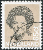 NETHERLANDS - CIRCA 2006: A stamp printed in the Netherlands, shows Beatrix of the Netherlands, circa 2006 — Stock Photo