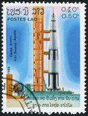 LAOS-CIRCA 1985: A stamp printed in the Laos — Stock Photo