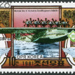 NORTH KOREA - CIRCA 1981: A stamp printed in North Korea, the exhibition is devoted to NAPOSTA-81 in Stuttgart, is shown flying boat Dornier Do X, circa 1981 — Stock Photo