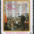 Royalty-Free Stock Photo: MADAGASCAR - CIRCA 1980: Postage stamps printed in Madagascar, is dedicated to the 110th anniversary of the birth of Vladimir Ilyich Lenin, circa 1980