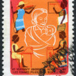 MADAGASCAR - CIRCA 1979: Postage stamps printed in Madagascar, is depicted women, supporters of the revolution, circa 1979 — Stock Photo #12465117