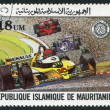 MAURITANIA-CIRCA 1982: Postage stamps printed in the Islamic Republic of Mauritania, dedicated to the 75 th anniversary of the Grand Prix of France — Stock Photo #12465119