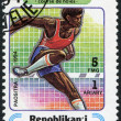 Description:MADAGASCAR - CIRCA 1994: Postage stamps printed in Madagascar, is devoted to sports - Stock Photo