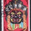 MONGOLIA-CIRCA 1984: A stamp printed in the Mongolia, depicts a ritual mask Cham, circa 1984 — Foto Stock