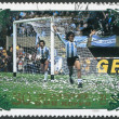 NORTH KOREA - CIRCA 1985: A stamp printed in North Korea, shows the final World Cup 1978, Argentina - Netherlands, circa 1985 — Stock Photo #12465565