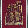 NORTH KOREA - CIRCA 1977: A stamp printed in North Korea, shows a cultural property, gold jewelry era Goguryeo, circa 1977 — Stock Photo