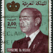 MOROCCO - CIRCA 1983: A stamp printed in the Kingdom of Morocco, represented the King Hassan II, circa 1983 — 图库照片
