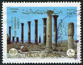 JORDAN-CIRCA 1988: A stamp printed in the Jordan, is depicted Umm Qais, circa 1988 — Stock Photo