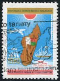 MADAGASCAR - CIRCA 1980: Postage stamps printed in Madagascar, is dedicated to the 20th anniversary of independence, circa 1980 — Stock Photo