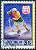 MONGOLIA-CIRCA 1975: A stamp printed in the Mongolia, devoted to the XII Winter Olympic Games — Stock Photo