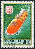 モンゴル-およそ 1975 年: xii 冬のオリンピック大会に専念、モンゴルで印刷スタンプ — ストック写真