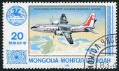 蒙古-大约 1983年: 一枚邮票印在蒙古 — 图库照片