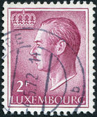 LUXEMBOURG - CIRCA 1993: A stamp printed in Luxembourg, is depicted Jean, Grand Duke of Luxembourg, circa 1993 — Stock Photo