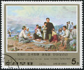 NORTH KOREA - CIRCA 1976: A stamp printed in North Korea — Stock Photo