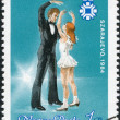 HUNGARY - CIRC1983: stamp printed in Hungary, is dedicated to Olympic Winter Games in Sarajevo, shows phases of dance in figure skating, circ1983 — Stock Photo #12755441