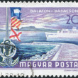HUNGARY - CIRCA 1968: A stamp printed in Hungary, depicts Lake Balaton at Badacsony, circa 1968 — Stock Photo