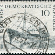 DDR - CIRCA 1961: A stamp printed in DDR, shows trawler, circa 1961 — Stock Photo