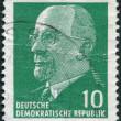 Stock Photo: DDR - CIRC1961: stamp printed in DDR, shows Walter Ulbricht, circ1961