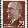 Stock Photo: DDR - CIRC1963: stamp printed in DDR, shows Walter Ulbricht, circ1963
