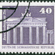 DDR - CIRCA 1973: A stamp printed in DDR, shown Brandenburg Gate, Berlin, circa 1973 — Stock Photo