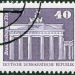 DDR - CIRCA 1973: A stamp printed in DDR, shown Brandenburg Gate, Berlin, circa 1973 — Stock Photo #12756233