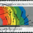 GERMANY - CIRCA 1979: A stamp printed in the Germany, dedicated to the Diagram of Einstein Photoelectric Effect, circa 1979 - Stock Photo