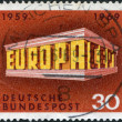 GERMANY - CIRCA 1969: A stamp printed in the Germany, shows the EUROPA and CEPT in the form of the Temple, circa 1969 — Stock Photo