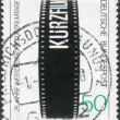 Royalty-Free Stock Photo: GERMANY - CIRCA 1979: A stamp printed in the Germany, dedicated to the 25th German Short-Film Festival, Oberhausen, circa 1979