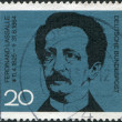 Stock Photo: GERMANY - CIRC1964: stamp printed in Germany, dedicated to 100th anniversary of death Ferdinand Lassalle, circ1964