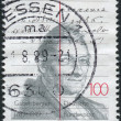 GERMANY - CIRCA 1989: A stamp printed in the Germany, dedicated to the 200th anniversary of Franz Xaver Gabelsberger, circa 1989 - Stock Photo