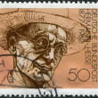 GERMANY - CIRCA 1978: A stamp printed in the Germany, shows Nobel Prize winner for literature Hermann Hesse, circa 1978 — 图库照片