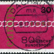 GERMANY - CIRCA 1971: A stamp printed in the Germany, shows a symbolic chain, emblem of CEPT, circa 1971 — Stock Photo