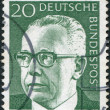 Stock Photo: GERMANY - CIRC1970: stamp printed in Germany, shows president of Germany Gustav Walter Heinemann, circ1970