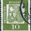 Stock Photo: GERMANY - CIRC1961: stamp printed in Germany, is shown Albrecht Durer, circ1961