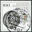 GERMANY - CIRC1990: stamp printed in Germany, shows seal (1400) and heraldic emblem of Teutonic Order, circ1990 — Stock Photo #12757037