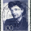 A stamp printed in the Germany, dedicated to the 100th anniversary of the birth Nelly Sachs — Stock Photo