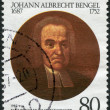 A stamp printed in Germany, is dedicated to the 300th anniversary of Johann Albrecht Bengel — Stock Photo
