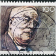 A stamp printed in Germany, is dedicated to the 100th anniversary of the birth Reinhold Maier — Stock Photo