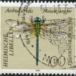 A stamp printed in Germany, shows Green Hawker - Stock Photo