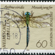 A stamp printed in Germany, shows Green Hawker — Stock Photo
